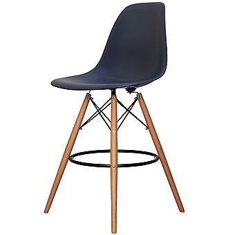 Charles Eames stile Navy Blue Plastic Bar Sgabello