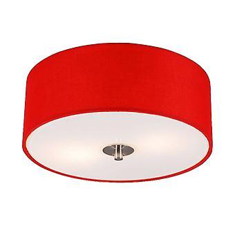 QAZQA Modern Ceiling Lamp 30cm Red - Drum