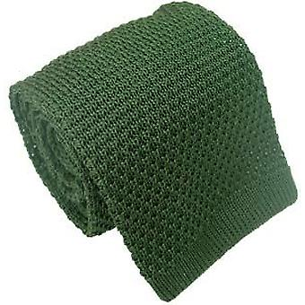 Michelsons of London Silk Knitted Tie - Green