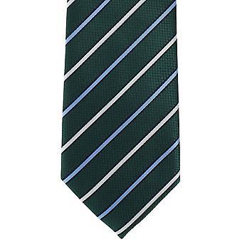 Michelsons Londons Streifen sogar Krawatte aus Polyester - grün