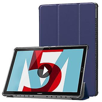 Premium Smart cover Mörk blå väska för Huawei MediaPad T5 10,1-tums fodral case påse