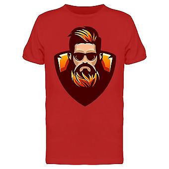 Punainen tyyli Partainen Kaveri Clipart Tee Men's -Kuva Shutterstock