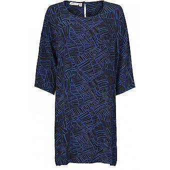 Masai Kleidung Nitassa blau gemustert Kleid