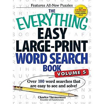 The Everything Easy Large-Print Word Search Book - Over 100 Word Searc