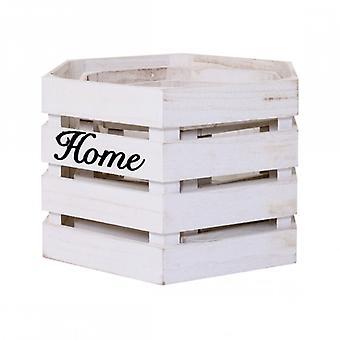 Rebecca möbler set 3-delat tvätt lådor sexkantiga trä vit vintage badrum