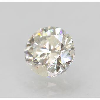 Certified 0.90 Carat E Color SI1 Round Brilliant Natural Loose Diamond 5.79m 3VG