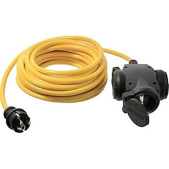 as - Schwabe 61454 Akım Kablo uzantısı 16 A Sarı 3.00 m