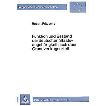 Funktion Und Bestand Der Deutschen Staatsangehoerigkeit Nach Dem Grun