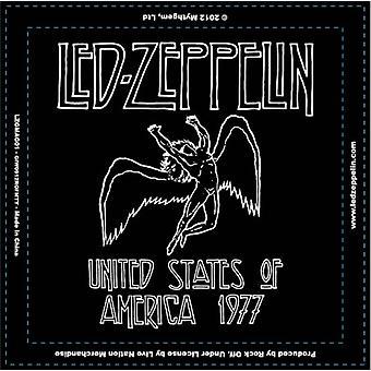 Led Zeppelin Fridge Magnet 1977 USA Tour new Official 76mm x 76mm