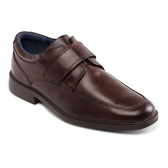Padders Brent Mens Leather Wide (g Fit) Shoes Brown