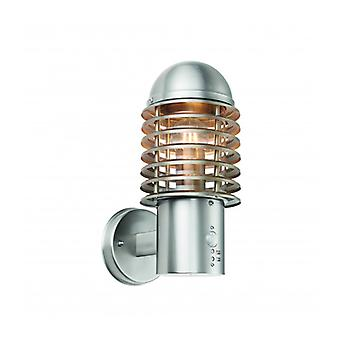Louvre Wall Lamp With Detector, Stainless Steel
