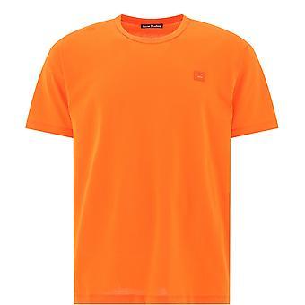 Acne Studios 25e173darkorange Uomini's Orange Cotton T-shirt
