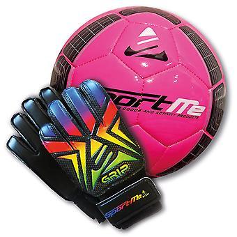 Goleiro Glove Grip Rainbow + Football Stl 4