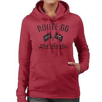 Route 66 motorcykel flaggor Los Angeles Women ' s Hooded Sweatshirt
