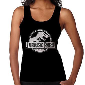 Jurassic Park klassieke zwarte & wit logo vrouwen ' s vest