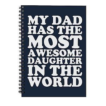 Min far har den mest fantastiske datter i verden spiral notebook