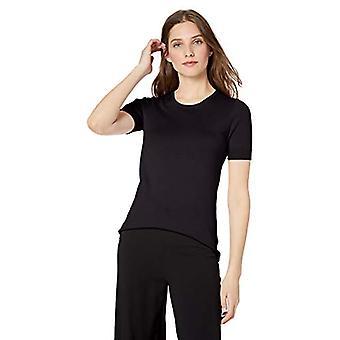 Marque - Lark & Ro Women's Short Sleeve Crew Neck Pima Cotton Sweater, ...