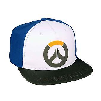 Overwatch Baseball Cap Relief 3D Logo novo Snapback Oficial Gamer Blue