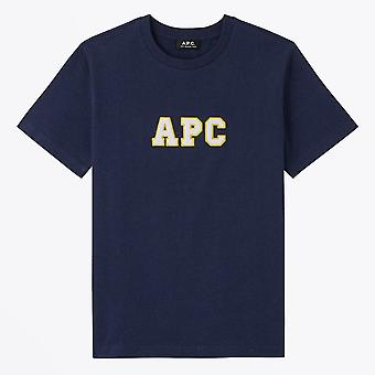 A.P.C.  - Gael - Collage Logo T-Shirt - Navy