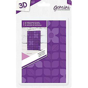Gemini Retro Garden A6 3D Embossing Folder