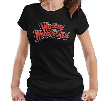 Woody Woodpecker Red Logo Women's T-Shirt