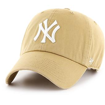 47 Brand Adjustable Cap - CLEAN UP New York Yankees old gold