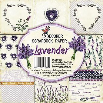 Decorer Lavender 6x6 Inch Paper Pack