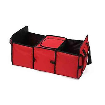 Soga Car Portable Storage Box Waterproof Cloth Multifunction Red