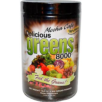 Greens World, Delicious Greens 8000, Mocha Cafe, Powder, 10.6 oz (300 g)