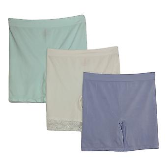 Breezies Plus Shaper Mid-Thigh Short Set Of 4 Asst W/ Purple A374503