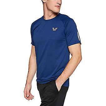 Peak Velocity Men's Channel-Knit Performance Short Sleeve Quick-dry Athletic-...