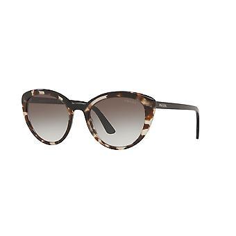 Prada SPR02V 3980A7 Opal Spotted Brown-Black/Grey Gradient Sunglasses