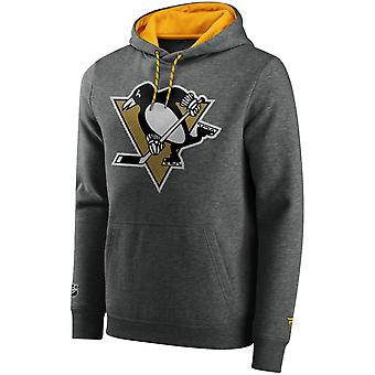 Ikoniska Grundläggande Fleece Hoody - NHL Pittsburgh Penguins