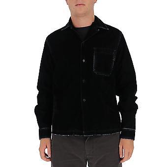 Marni Cuju0007a0s3069800n99 Men's Black Cotton Shirt