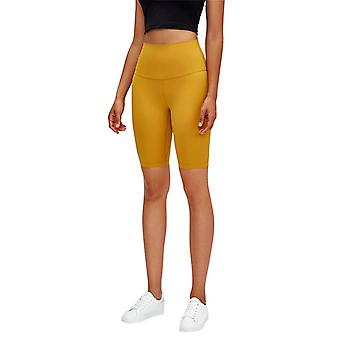 Kvinnor Yoga hög midja dolda pocket sömlösa sidan Shorts