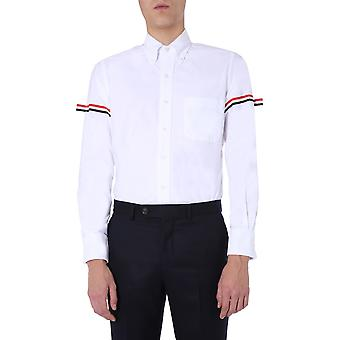Thom Browne Mwl150e00139100 Men'camisa de algodão branco