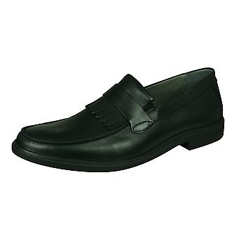 Sledgers Hector Loafer Mens Slip on Leather Shoes - Black