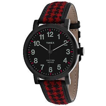 Timex Men's Houndstooth Black Dial Watch - TW2P98900