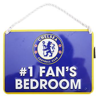 Chelsea FC Official Number 1 Fan Football Crest Bedroom Sign