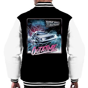 Back to the Future Delorean Lightning Outatime Men's Varsity Jacket
