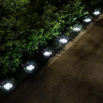 8pcs Solar Light Outdoors Waterproof 8 Led -solar Street Light