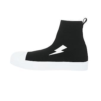 Neil Barrett Big Bolt Sock Skater Sneakers