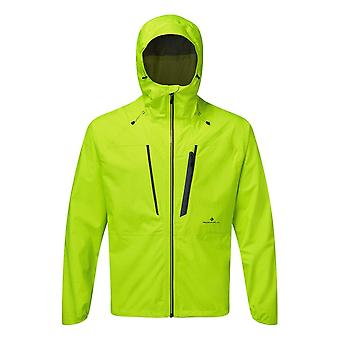 Ronhill Tech Fortify Mens Breathable & Waterproof Running Jacket Fluo/yellow