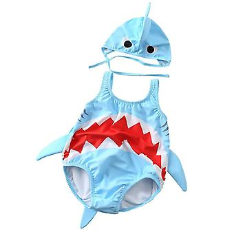 Baby Swimwear Toddler Kids Baby Girl Boy Cartoon Shark Bikini Bathing