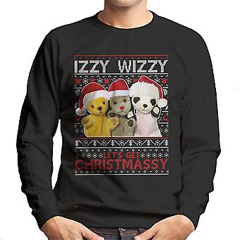 Sooty Christmas Izzy Wizzy Men's Sweatshirt