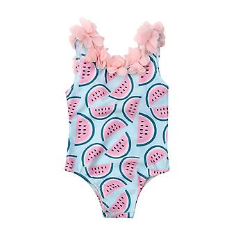 Baby Girls Memelon Swimsuit, Swimwear Bikini One-piece Bodysuit For 0-4years