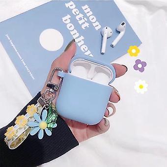 Luxus süße Blume Dekoration Fall für Apple Airpods Fall Ornament Zubehör - Bluetooth Kopfhörer Silikon Abdeckung Schlüsselanhänger