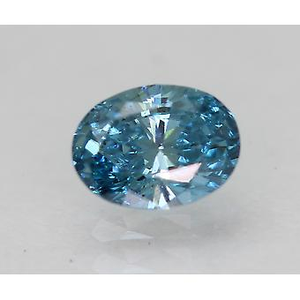 Cert 0.32 Karat Himmel blau VS1 Oval Enhanced natürliche lose Diamant 5.05x3.77mm
