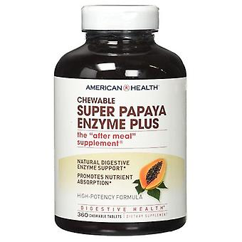 American Health Super Papaya Enzym Plus, 360 Tyggebare faner