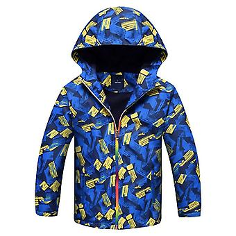 Children Boys Jacket Waterproof Windproof Outerwear Warm Polar Fleece Coat Hoodie For 3-12y Baby